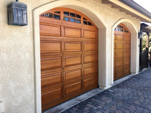 Refinishing gorgeous garage doors for Gorgeous garage