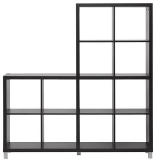 dark brown cube shelving unit contemporary display and. Black Bedroom Furniture Sets. Home Design Ideas