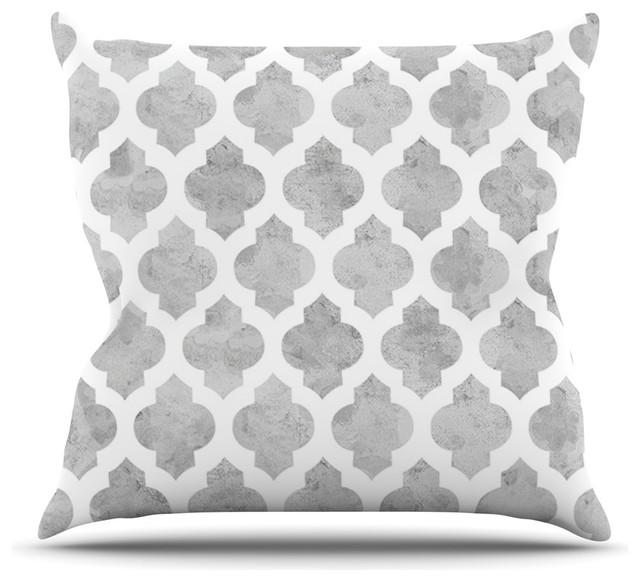 amanda lane gray moroccan gray white throw pillow mediterranean decorative pillows by. Black Bedroom Furniture Sets. Home Design Ideas