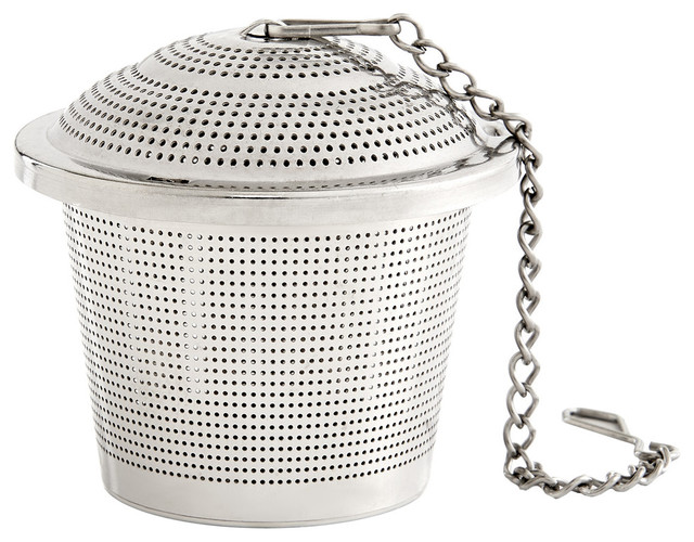 "Harold Import Co. 1.75""x2"" Large Stainless Steel Barrel Tea Infuser."