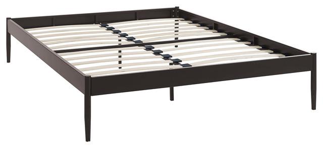 elsie queen bed frame brown