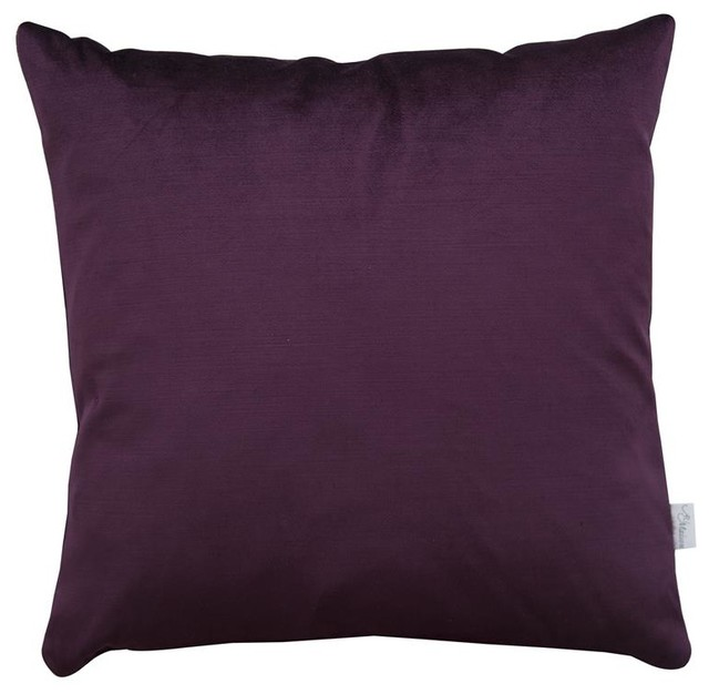 A u maison plum velvet silk cushion cover contemporary for Au maison cushion