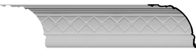 """Brightton Crown Moulding, 18 1/4""""h X 16 3/8""""p X 23 7/8""""f X 82""""l."""