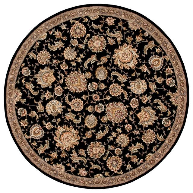 Nourison 2000 2360 Black Area Rug 8'x8' Round