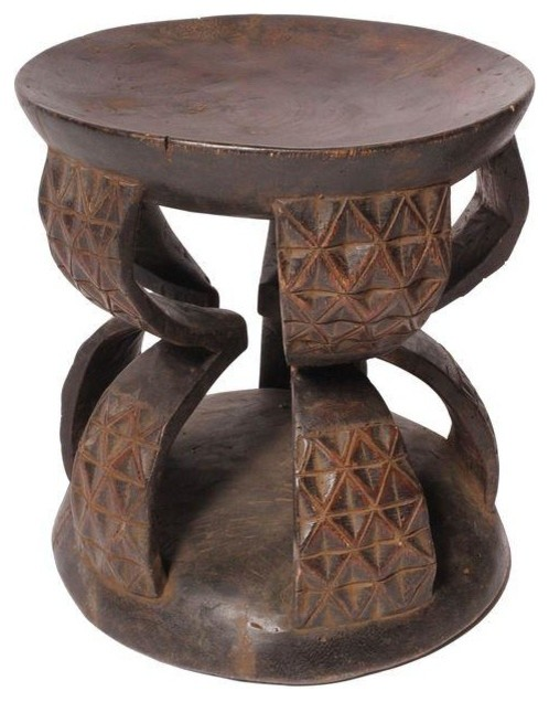Carved African Wood Stool IV accent-and-garden-stools  sc 1 st  Houzz & Carved African Wood Stool IV - Accent And Garden Stools - by Chairish islam-shia.org