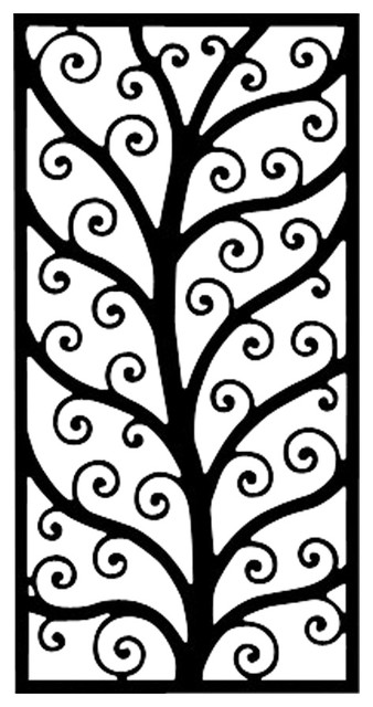Rectangular Wall Art iron rectangular wall art style 202 - contemporary - outdoor wall