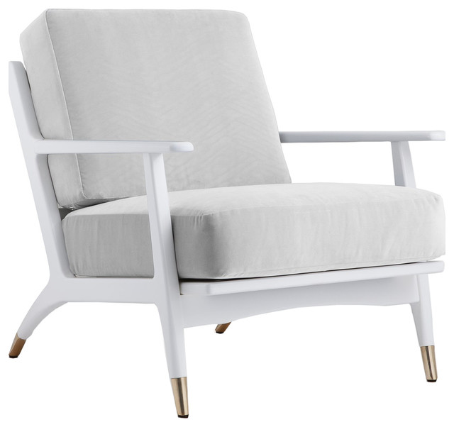 Genial Bungalow 5 Hart Lounge Chair In White