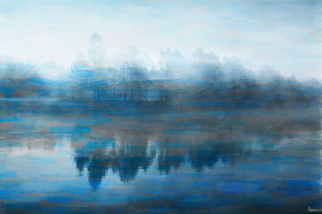 Lake Marmot Print on Canvas, 30x20 cm