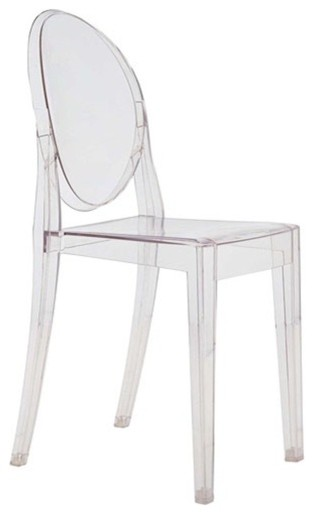 Fine Mod Imports  Clear Side Chair, Clear.