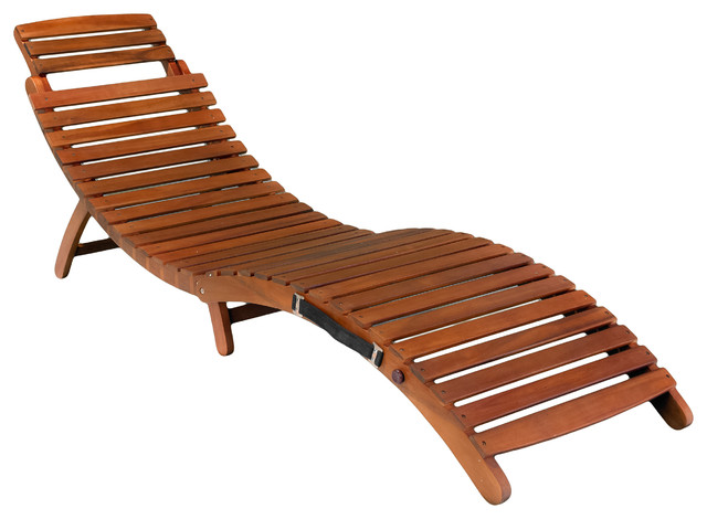 Lisbon Folding Chaise Lounge Chair Contemporary Outdoor Chaise Lounges