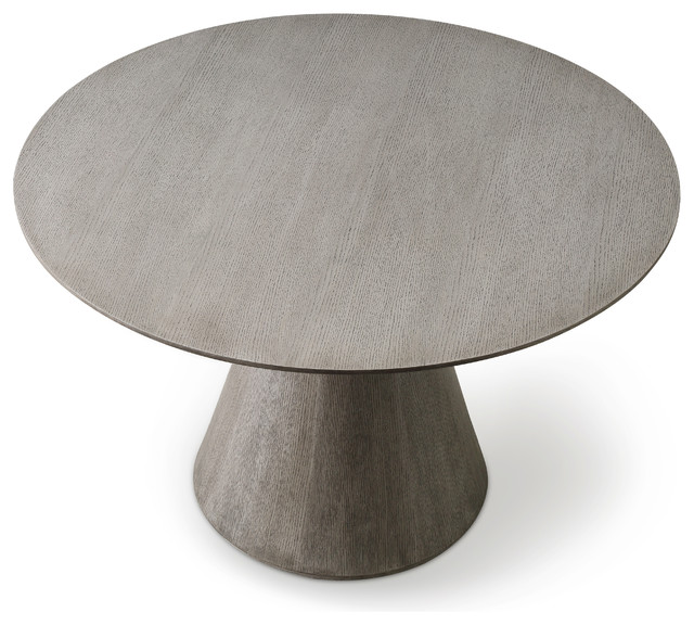 Whiteline Kira Round Dining Table Gray Dining Tables By Gwg Outlet