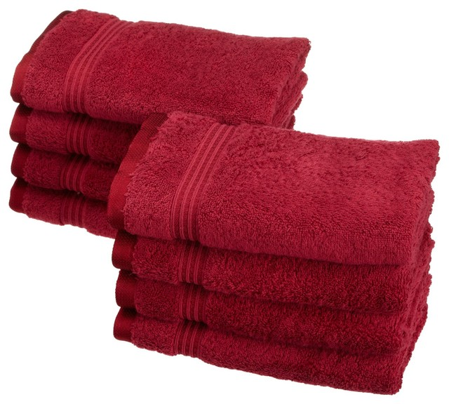 Superior Egyptian Cotton 8pc Burgundy Hand Towel Set traditional bath towels. Superior Egyptian Cotton 8pc Hand Towel Set   Traditional   Bath
