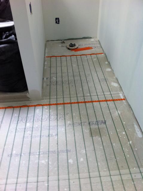 Install Heated Floors In Bathroom