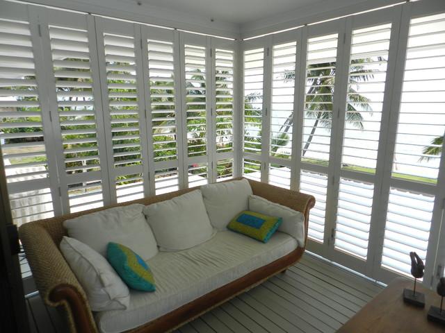 Aluminum Exterior Plantation Shutters. modern-deck