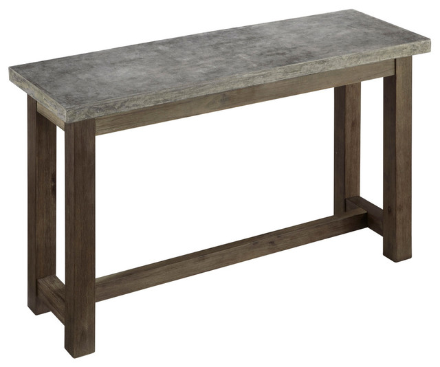 Concrete Chic Console Table Industrial Console Tables