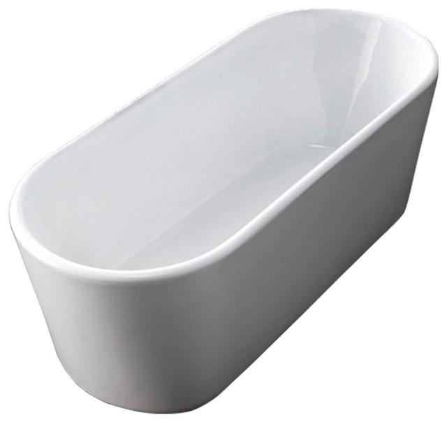 """Prospero Acrylic Modern Bathtub 59"""" - New Design!."""