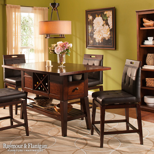 Raymour Flanigan Furniture And Mattresses Accessories Danfield Counter Height Dining Collection Room