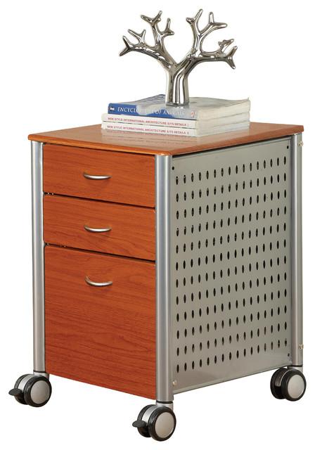 InnovEx Archive Filing Cabinet, Medium Cherry ...