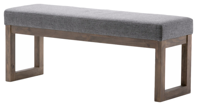 High Quality Milltown Ottoman Bench Contemporary Upholstered Benches