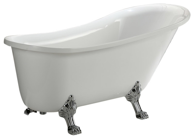 Jacqueline Soaking Bathtub Traditional Bathtubs By