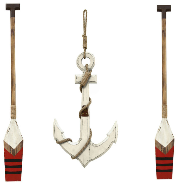 Nautical Anchor Wall Decor White With