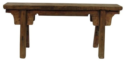 Consigned, Antique Chinese Countryside Bench 7