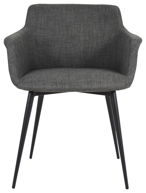 Moe 39 S Home Collection Ronda Arm Chair Grey Dining Chairs Houzz