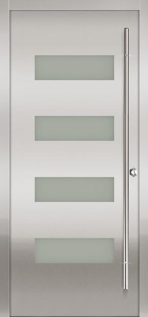 Milano-14 Stainless Exterior Door