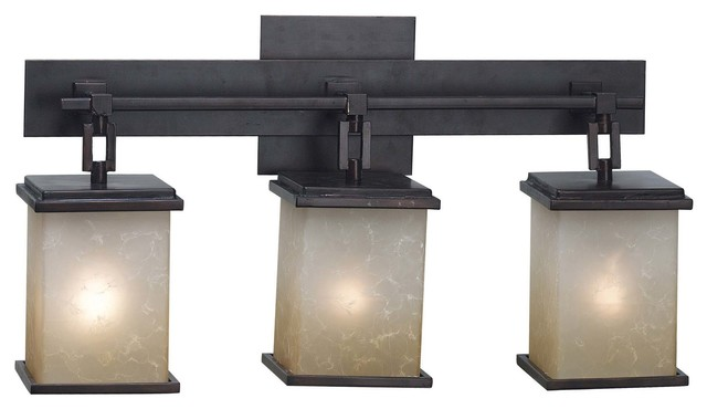 Portfolio 3 Light Light Oil Rubbed Bronze Contemporary: Plateau 3-Light Bathroom Vanity Lights, Oil Rubbed Bronze
