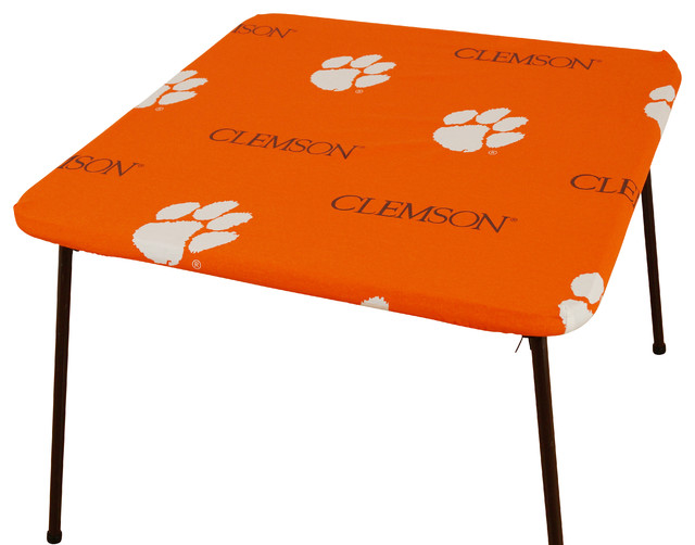 "COLLEGE COVERS Clemson Tigers Card Table Cover, 33""x33"
