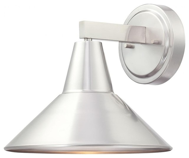 Brushed Stainless Steel Minka 71163-A144 Downtown Edison Outdoor Wall Light