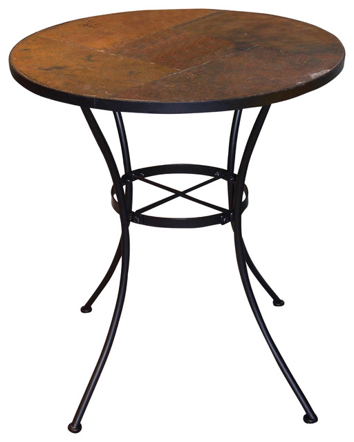 Round Table With Slate Top.