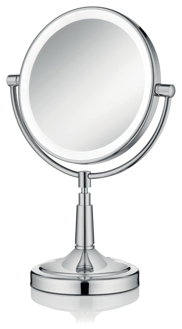 Led Lighted Table Top Magnifying Mirror