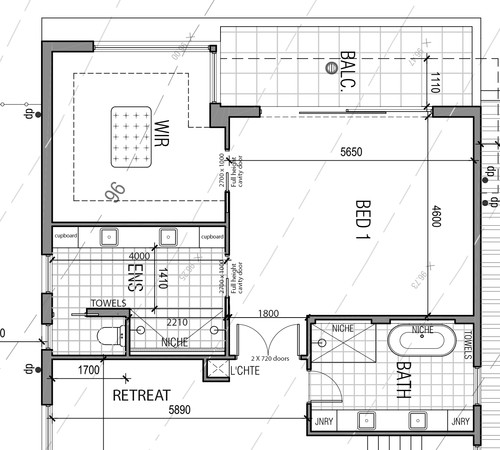 Alternative layout for master bed wir ensuite for Ensuite floor plans