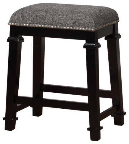 kyley tweed backless stool transitional bar stools and counter stools by furniture domain. Black Bedroom Furniture Sets. Home Design Ideas