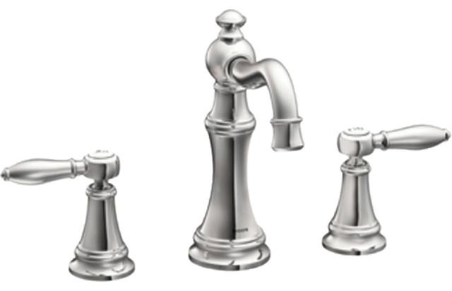 Moen TS42108 Two Handle High Arc Bathroom Faucet Transitional Bathroom Si