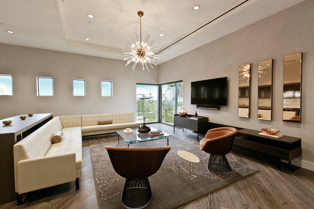 Orion jet center vip lounge midcentury miami by for Vip room interior design