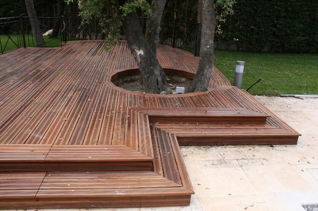 terrasse bois mediterranean nice by ebenisterie rossi. Black Bedroom Furniture Sets. Home Design Ideas