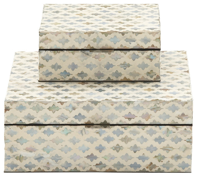 Donella 2-Piece Mother Of Pearl Inlay Box Set. -1