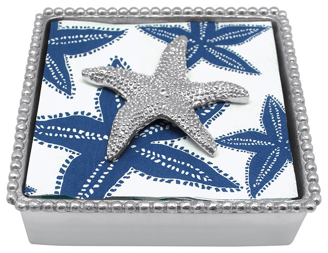 Mariposa Starfish Beaded Napkin Box.
