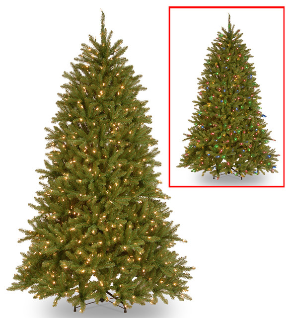 PowerConnect Dunhill Fir Tree With Dual Color LED Lights, 6.5'