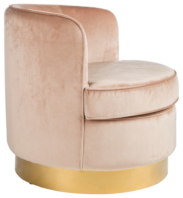 Betty Brass Base Tube Chair Contemporary Armchairs And