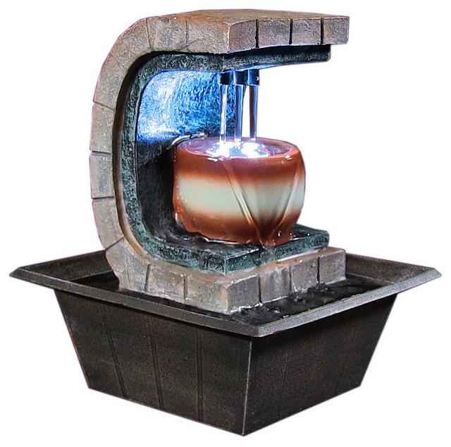 Sunnydaze Decor - Sunnydaze Meditation Tabletop Fountain With LED ...