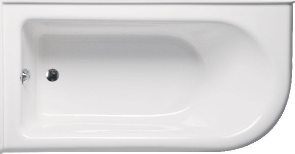 Bow 6032 Left Hand, Tub Only, White.