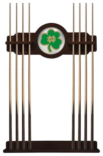 Notre Dame Shamrock Cue Rack In English Tudor Finish