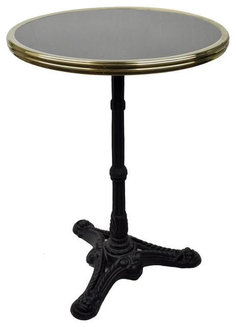 French Bistro Table Black Granite And Iron Base Traditional Indoor Pub And Bistro Tables By Maison Absinthe