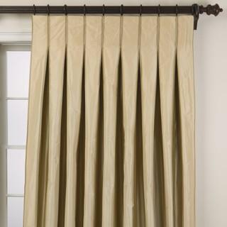 Taffeta stripe inverted pleat panel traditional-curtains