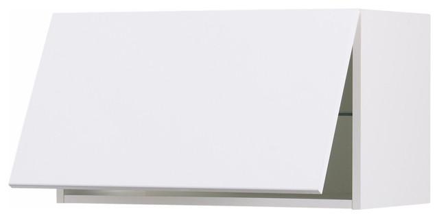 Akurum Horizontal Wall Cabinet Abstrakt High Gloss White For Kitchen Cabinets