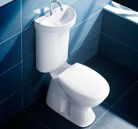 Has Anyone Used The Caroma Profile Smart Toilet W/built In Sink For A Small  Powder Room?