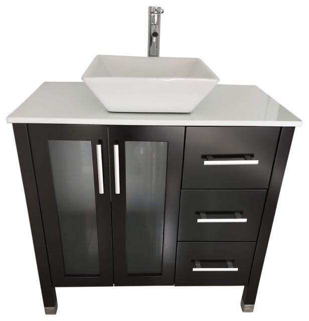 Modern Bathroom Vanity With 3 Drawers